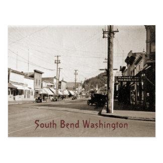 Postal South Bend Washington circa 1925