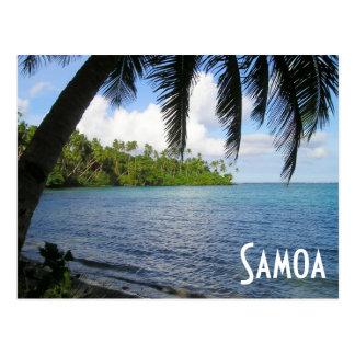 Postal South Pacific enmarcó por la palmera, Samoa