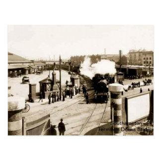 Postal Southampton - estación del término (muelles)