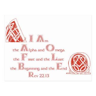 Postal Soy el alfa y la Omega