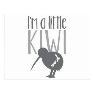 Postal Soy un pequeño kiwi con el pájaro lindo de Nueva
