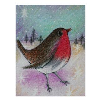 Postal Sr. Christmas Robin