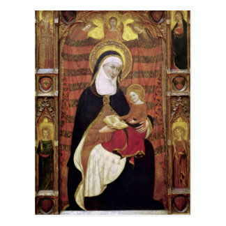 Postal St Anne y la Virgen