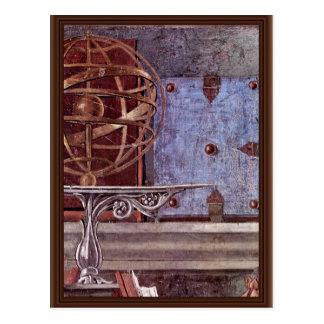 Postal St Augustine en detalle contemplativo del rezo