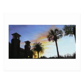 Postal St Augustine en la puesta del sol
