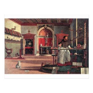 Postal St Augustine en su estudio - Vittore Carpaccio