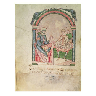 Postal St Augustine que discute con Faustus