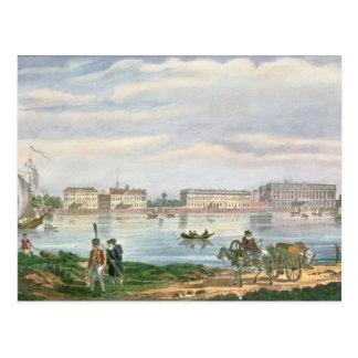 Postal St. de mármol del terraplén del palacio y de Neva