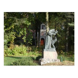 Postal St. Franics y el lobo de Gubbio