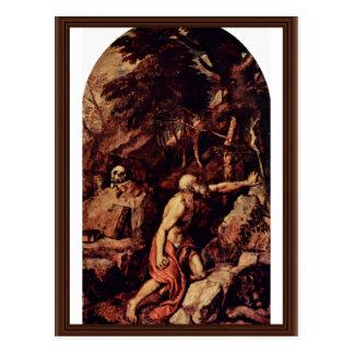 Postal St Jerome por Tizian (la mejor calidad)