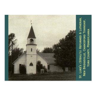 Postal St Luke reformado y iglesia luterana, York Co, PA