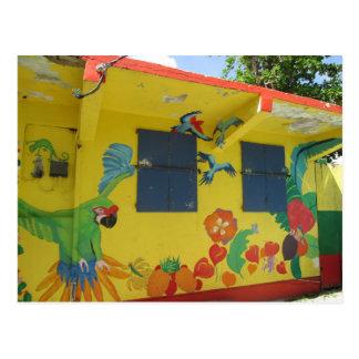 Postal St. Maarten del arte del dibujo animado