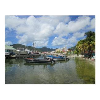 Postal St. Maarten del puerto de Philipsburg