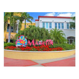 Postal St. Maarten, signo positivo, fotografía, holandesa