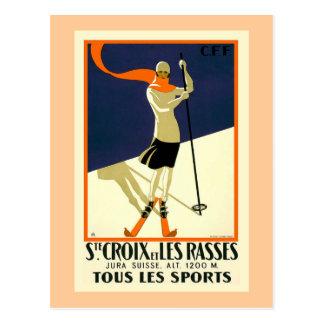 """Postal """"Ste Croix y viaje suizo del vintage de Les"""