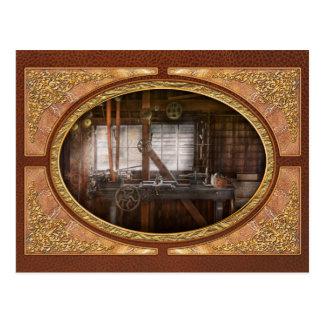 Postal Steampunk - maquinista - mi taller que se ocupa