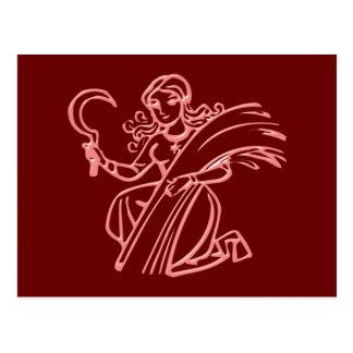 Postal Sternzeichen virgen zodiac sign Virgo