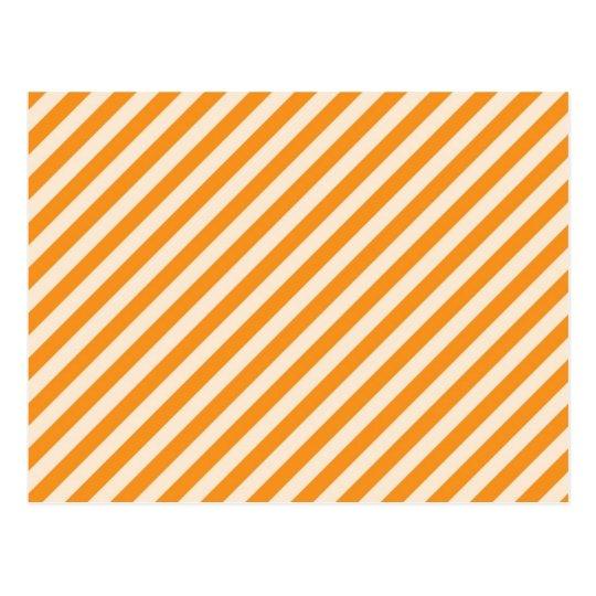 Postal [STR-OR-1] Bastón de caramelo anaranjado y blanco