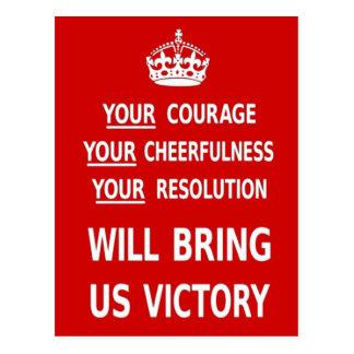 Postal Su valor nos traerá la victoria. El mejor precio