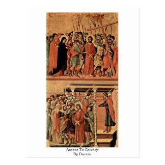 Postal Subida al Calvary por Duccio