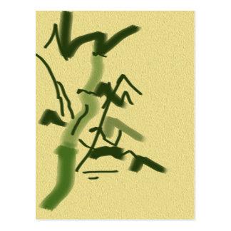 Postal Suerte y bambú