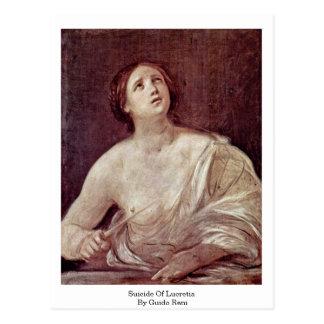 Postal Suicidio de Lucretia de Guido Reni