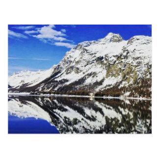 Postal suiza de las montañas