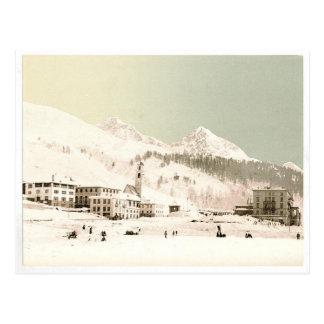 Postal Suiza en invierno
