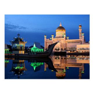 Postal Sultán Omar Ali Saifuddin Mosque en Brunei