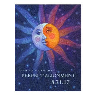 Postal Sun y alineación perfecta del eclipse de la luna