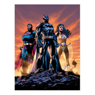 Postal Superhombre, Batman, y trinidad de la Mujer