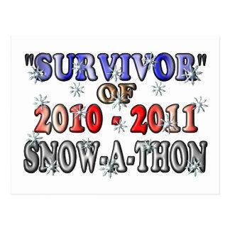 Postal Superviviente de 2010-2011Snow-A-Thon