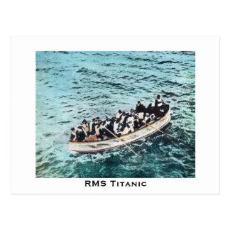 Postal Supervivientes titánicos del RMS en vintage de los