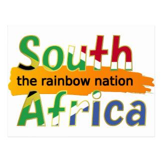 Postal Suráfrica - la nación del arco iris