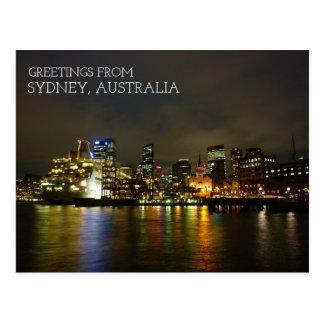 Postal Sydney Australia en la noche