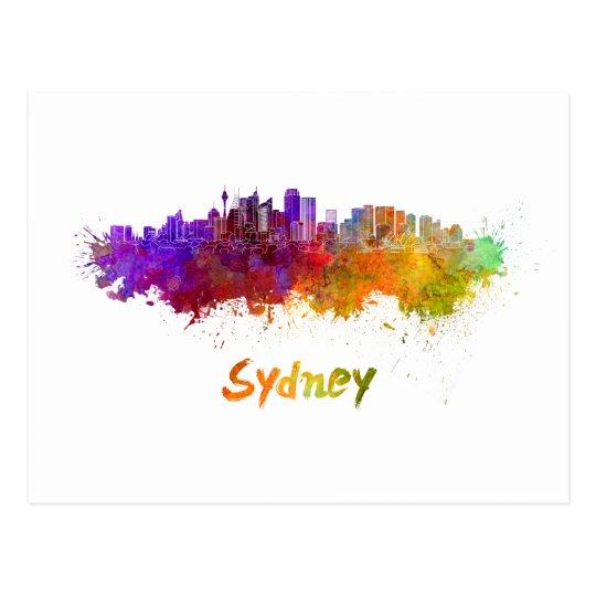 Postal Sydney v2 skyline in watercolor