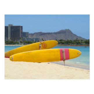 Postal Tablas hawaianas de Moana del Ala