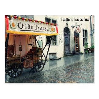 Postal Talllin viejo, Estonia