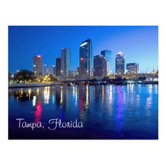 Postal Tampa, la Florida en el amanecer