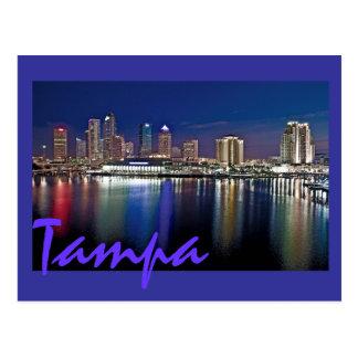 Postal Tampa, la Florida en el amanecer de las islas de