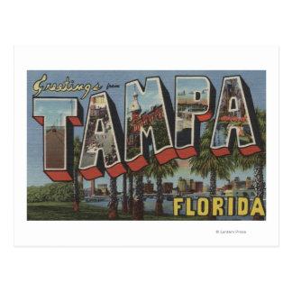 Postal Tampa, letra ScenesTampa, FL de FloridaLarge