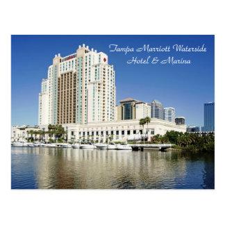 Postal Tampa, Marriott, orilla del agua, hotel y puerto