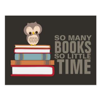 Postal Tan muchos libros tan poco empollón lindo del