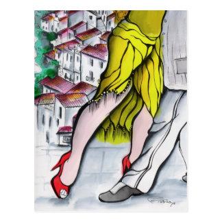 Postal Tango de Blanco del pueblo