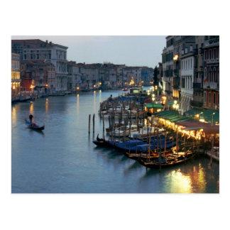 Postal Tarde de Venecia - Gran Canal