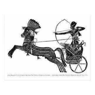 Postal ¡Tarjeta egipcia del arte del vintage de rey