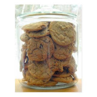 Postal Tarro de fotografía de las galletas de