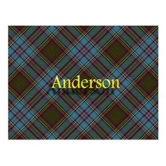 Postal Tartán escocés de Anderson del clan