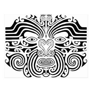 Postal Tatuaje maorí - blanco y negro