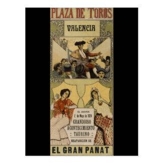 Postal Tauromaquia española Valencia del vintage